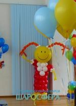 Фигуры из шаров для оформления сцены