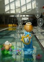 пасхальное оформление из шаров