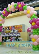 арка из шаров в магазине игрушек