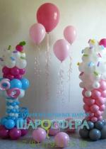 Конфетный праздник оформление шарами