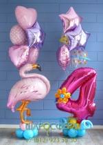 Сет с фламинго из шаров