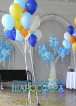 деревья из шаров для оформления праздника