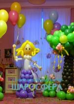 дерево из шаров для детского праздника