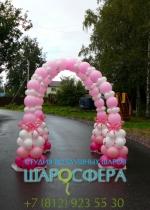 арка из шаров для маленькой принцессы