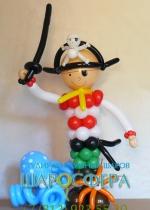 пират из шаров с осьминогом