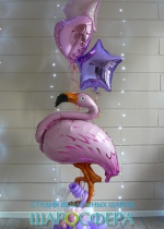 фламинго с воздушными шарами