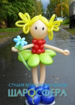 """кукла из воздушных шаров """"Дюймовочка"""""""