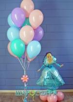 принцесса шар из фольги и шары с гелием