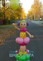 """кукла """"Ляля"""" из шаров"""