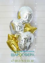 золотые и сербряные шары из фольги