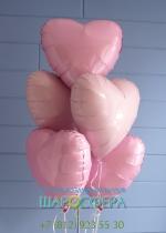 """шары в форме """"сердце"""" из фольги"""