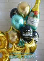 Букет шаров с шампанским