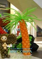 пальма из шаров большая