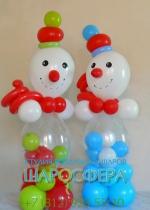 2 снеговика из воздушных шаров