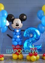 Микки Маус из шаров для детского праздника