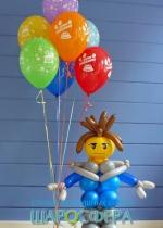 лего человечек из шаров