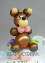 медведь из воздушных шариков