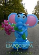 слонёнок из шаров