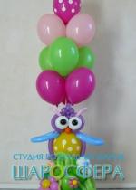 сова из воздушных шаров