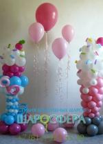 конфетные вечеринки оформление шарами