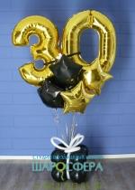 композиция с воздушными шарами
