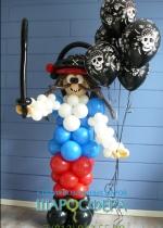 пират из шаров в кафтане