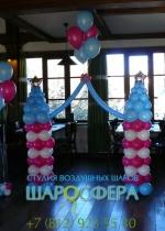 замок из воздушных шаров для девочки