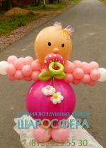 Кукла из шариков на выписку из роддома