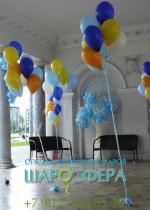 фонтаны из шаров для выпускного