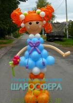 Кукла Лалалупси из воздушных шаров