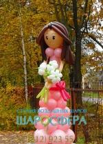 """Кукла из шаров """"Ася"""""""