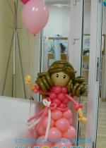 """Кукла из шаров """"Моя подружка"""""""