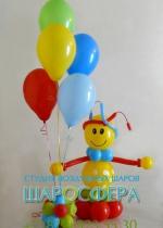 игрушка из шаров и декоративный фонтан