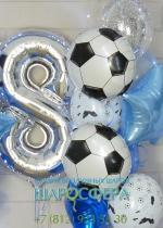 шар из фольги футбольный мяч