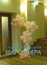 цветочная стойка из шаров