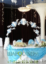 свадебная арка из шаров