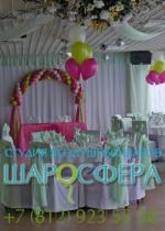арка из шаров с декором