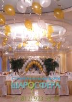 классическое свадебное оформление воздушными шарами